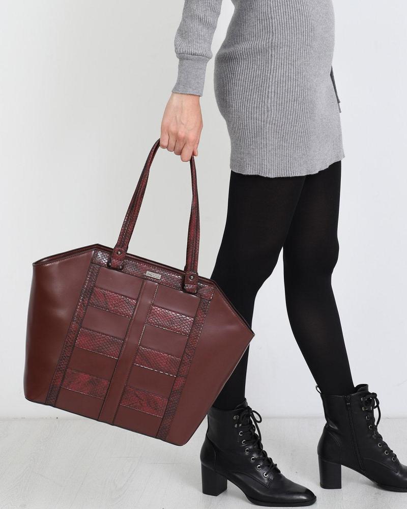 Bordeaux handtasche