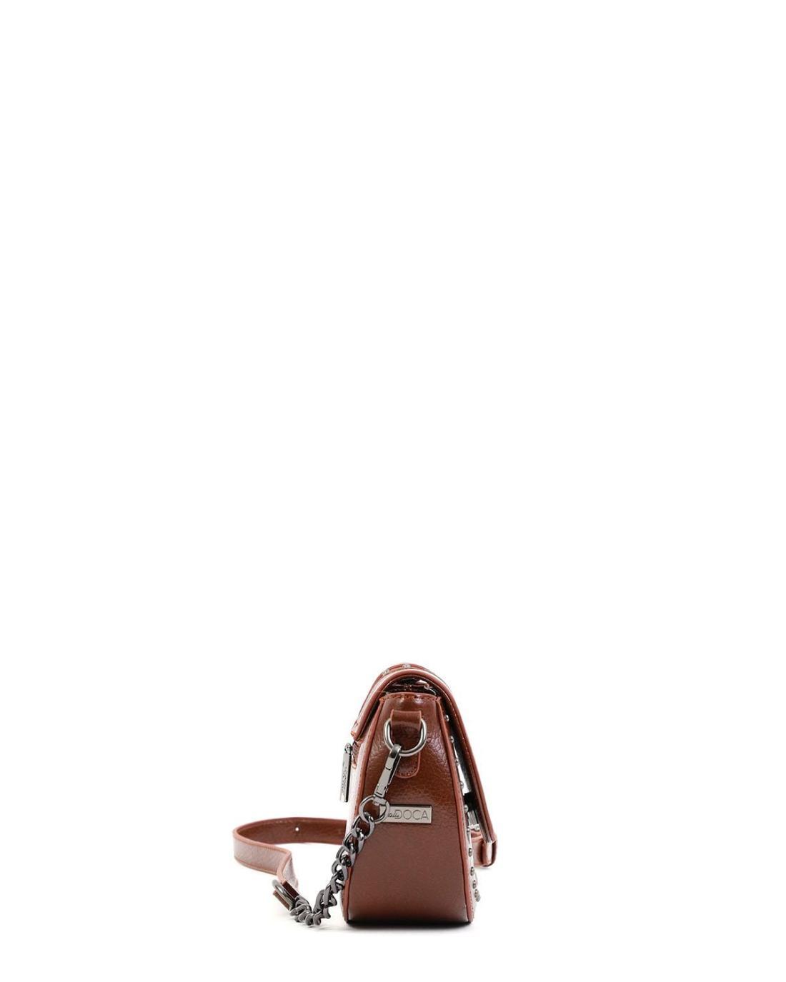 Τσάντα χιαστί καφέ
