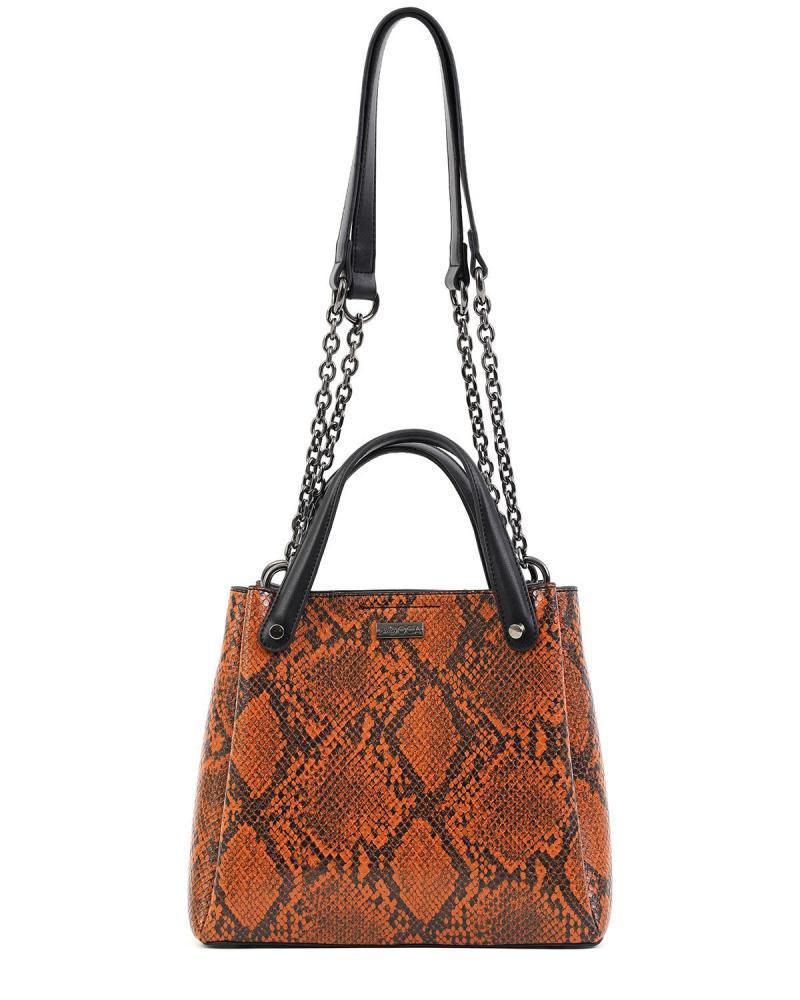 Καθημερινή τσάντα χειρός/ώμου πορτοκαλί