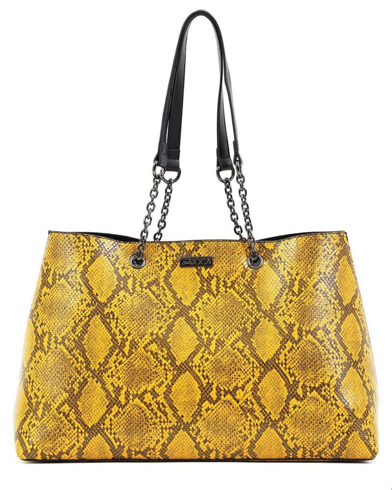 Καθημερινή τσάντα χειρός/ώμου κίτρινη