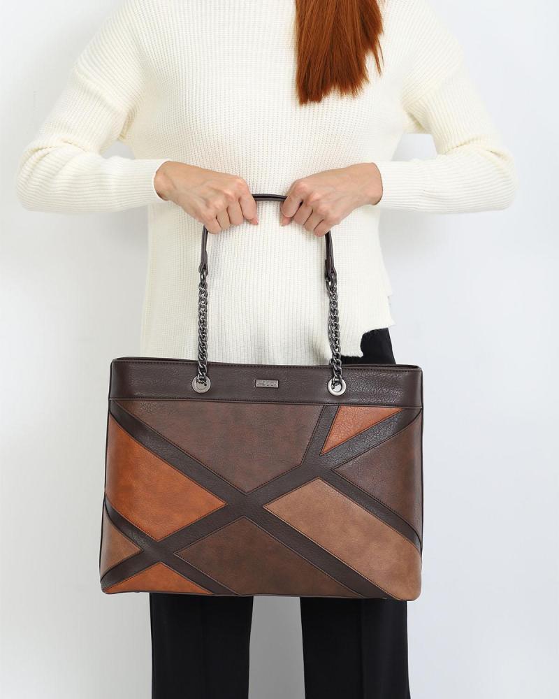 Καθημερινή τσάντα χειρός/ώμου γκρι