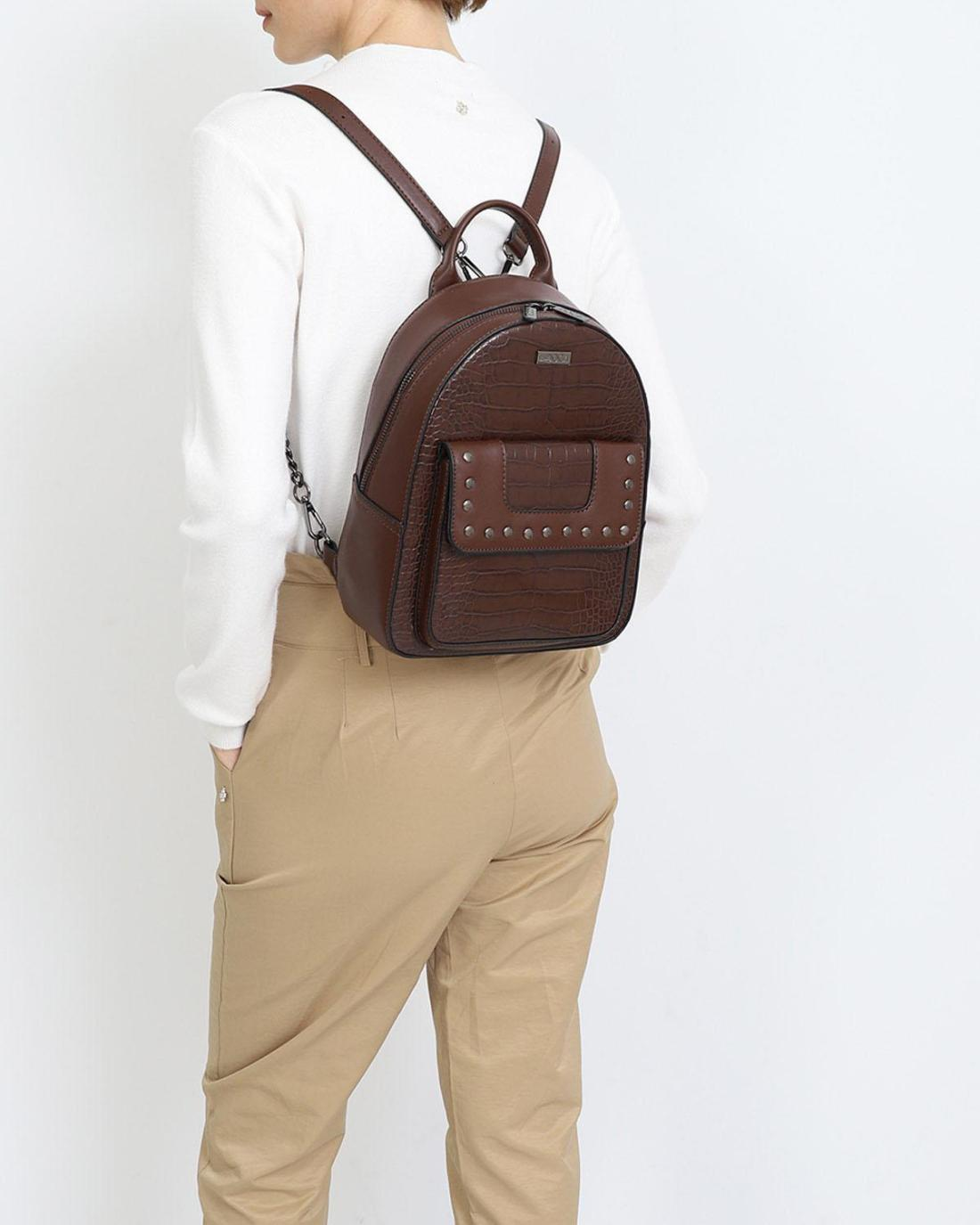 Τσάντα πλάτης καφέ