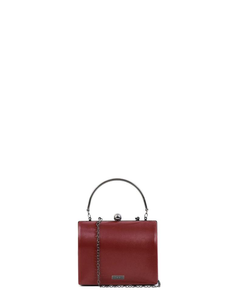 Bordeaux clutch-tasche