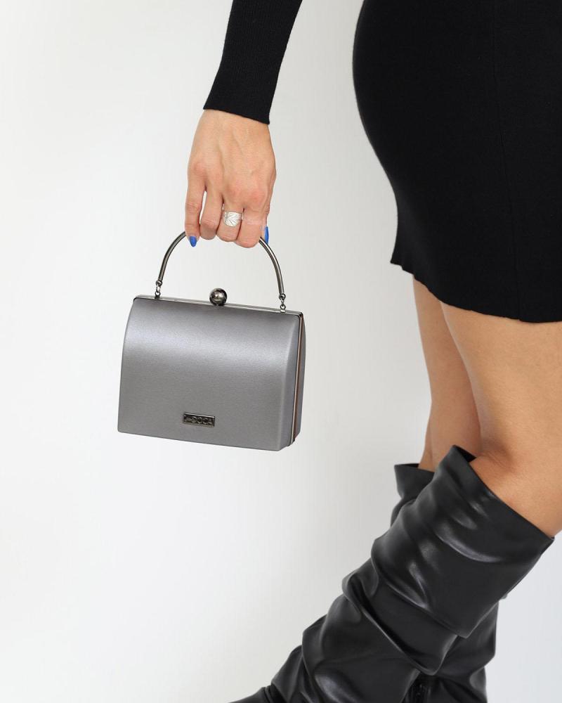 Silber clutch-tasche