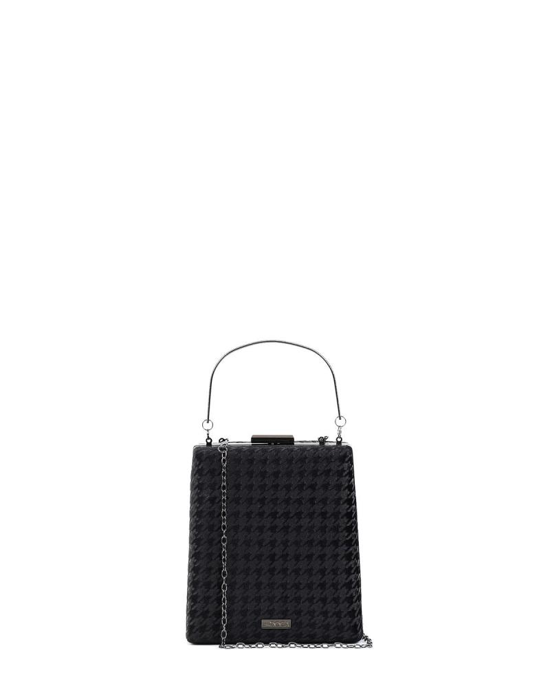 Schwarz clutch-tasche