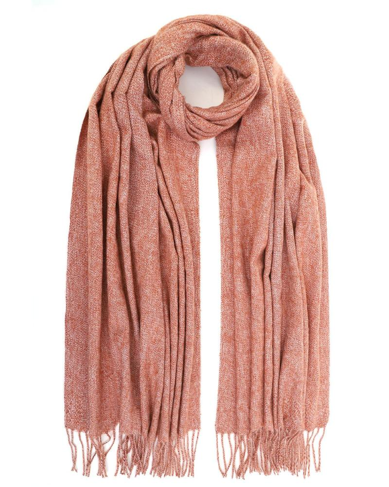 Warm pink scarf