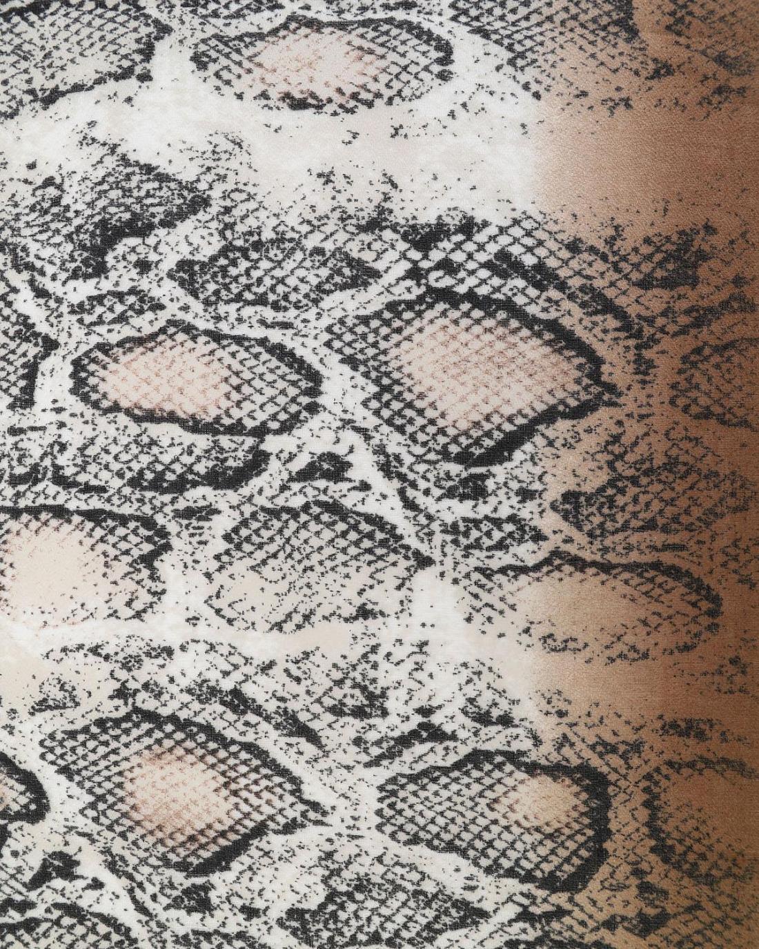 Φουλάρι καφέ animal print
