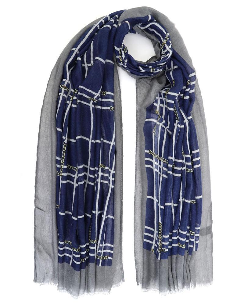Blue/grey pashmina