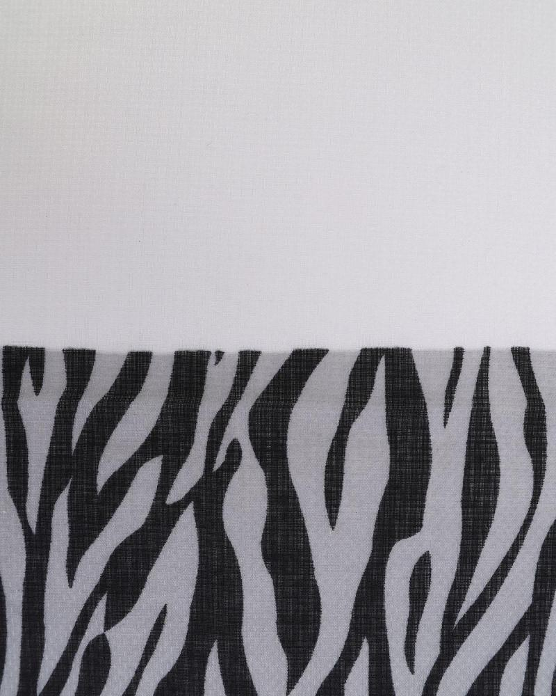 Grey animal print pashmina
