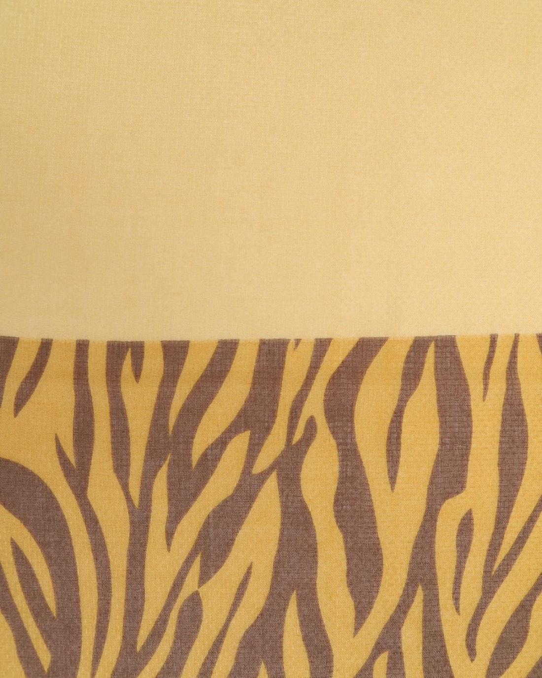 Πασμίνα κίτρινη animal print