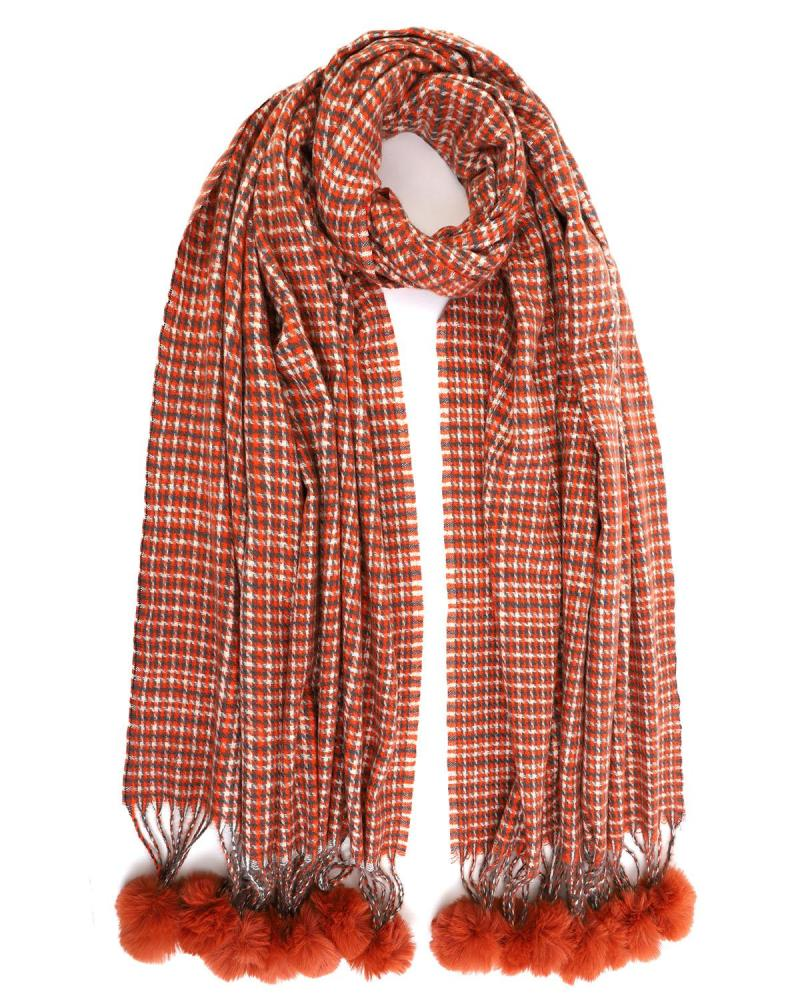 Light red scarf