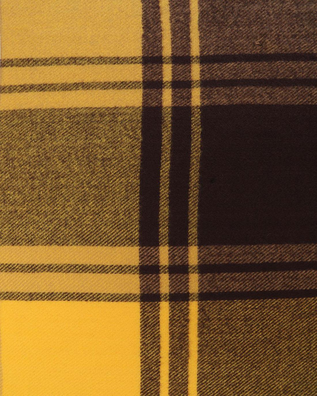 Κασκόλ κίτρινο/καφέ
