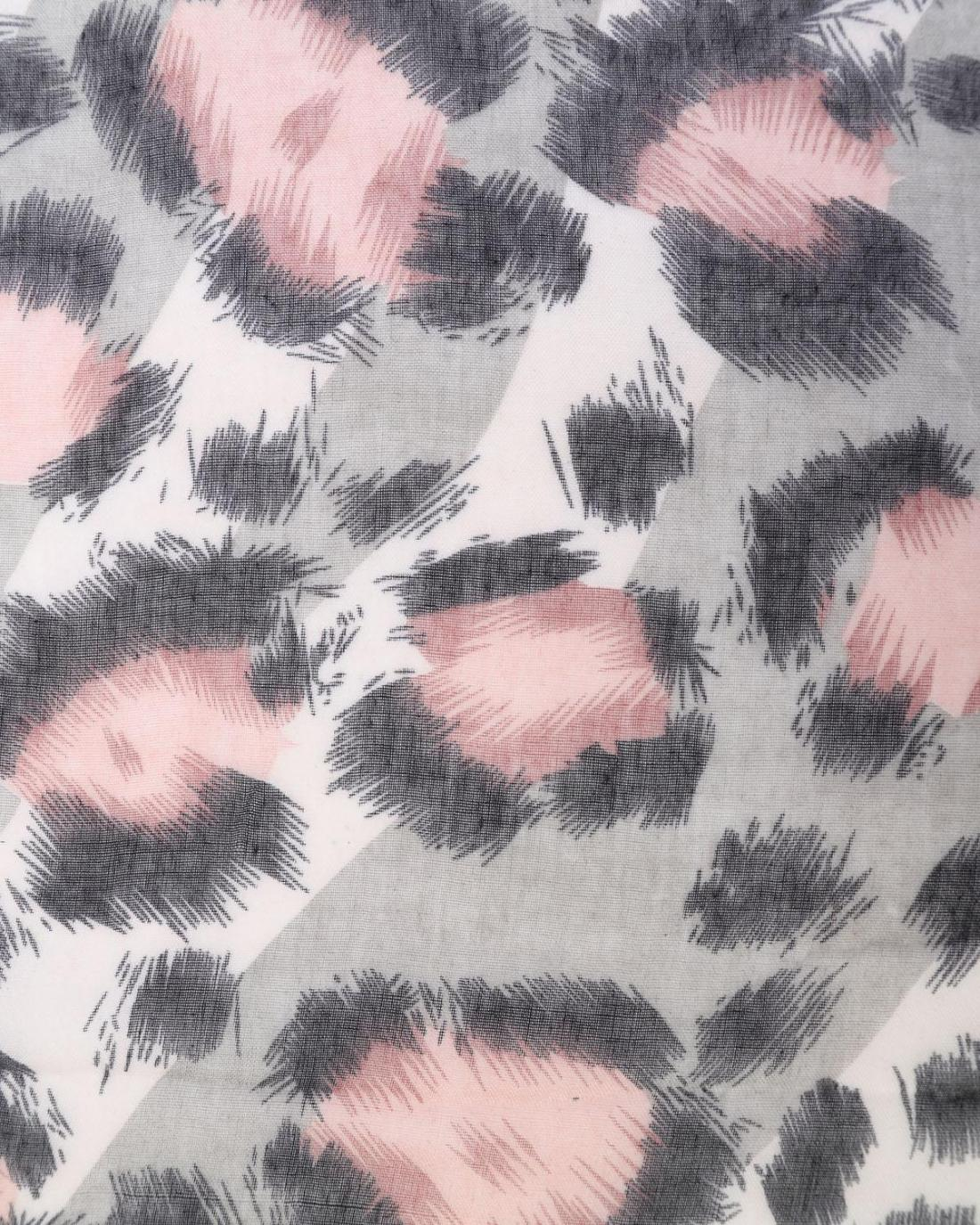 Φουλάρι ροζ animal print