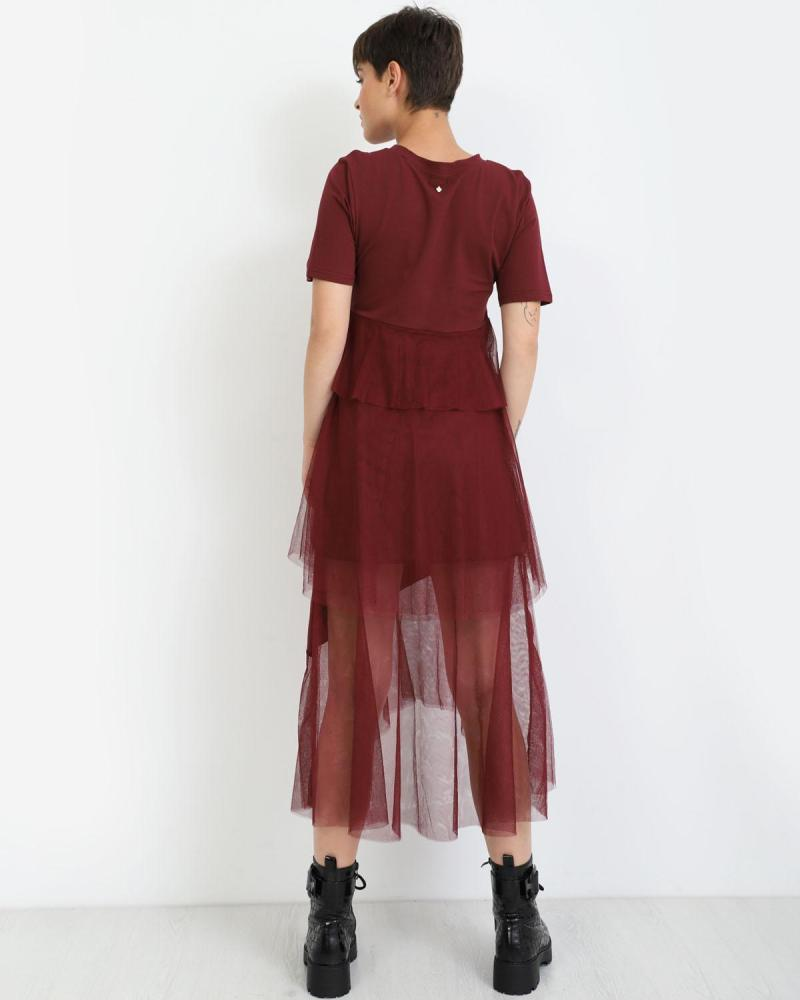 Φόρεμα μπορντώ