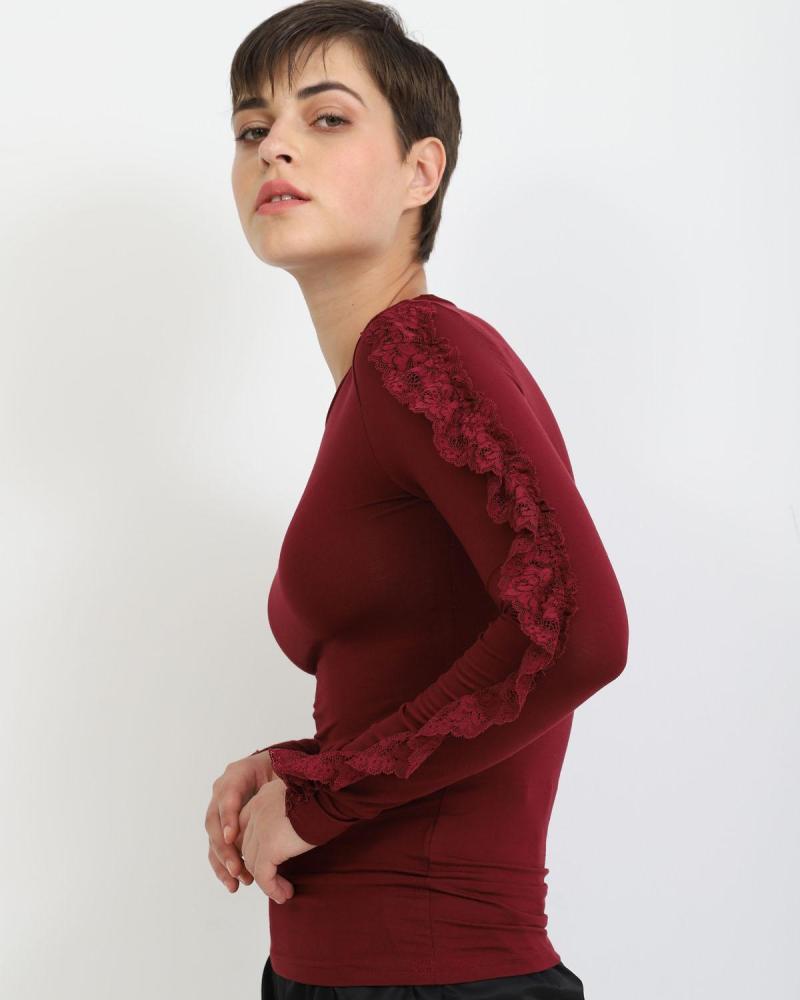Bordeaux bluse