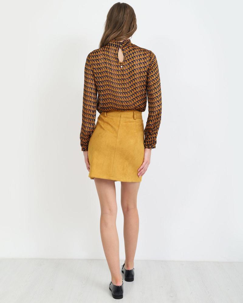 Μίνι φούστα ώχρα