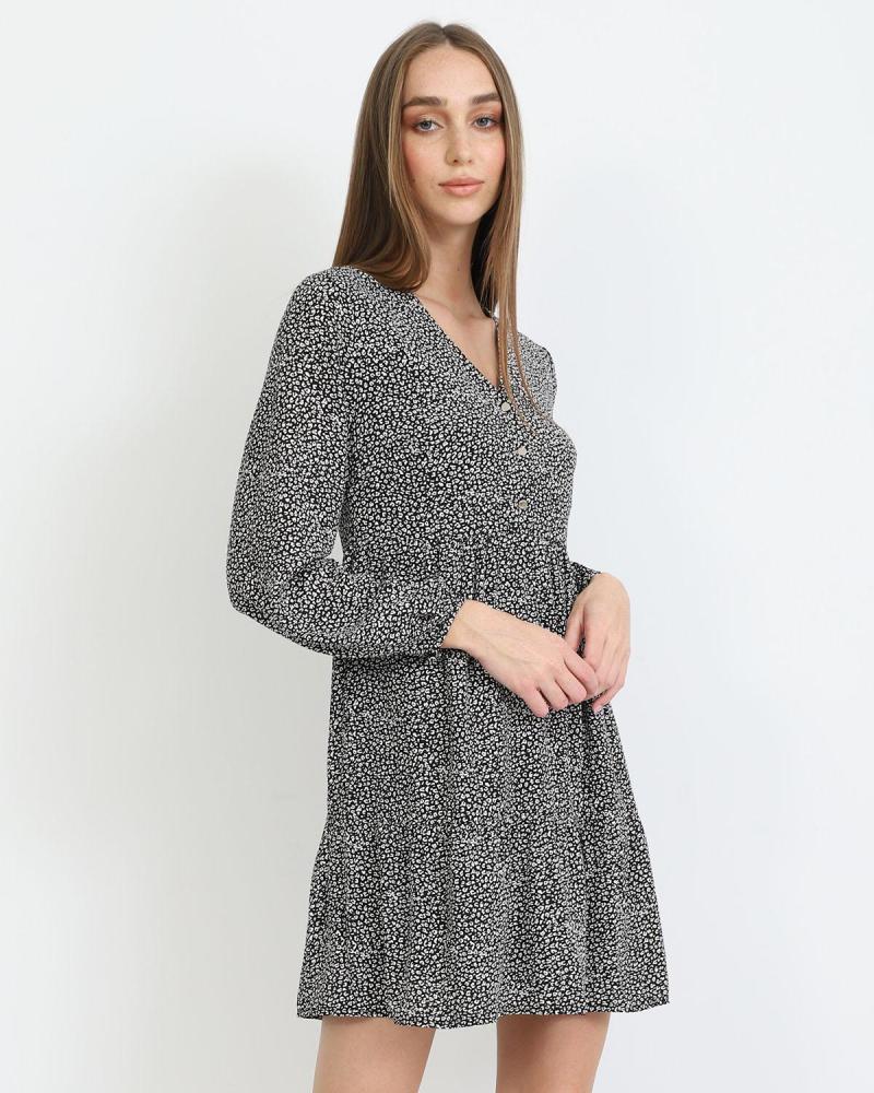 Animal print mini dress