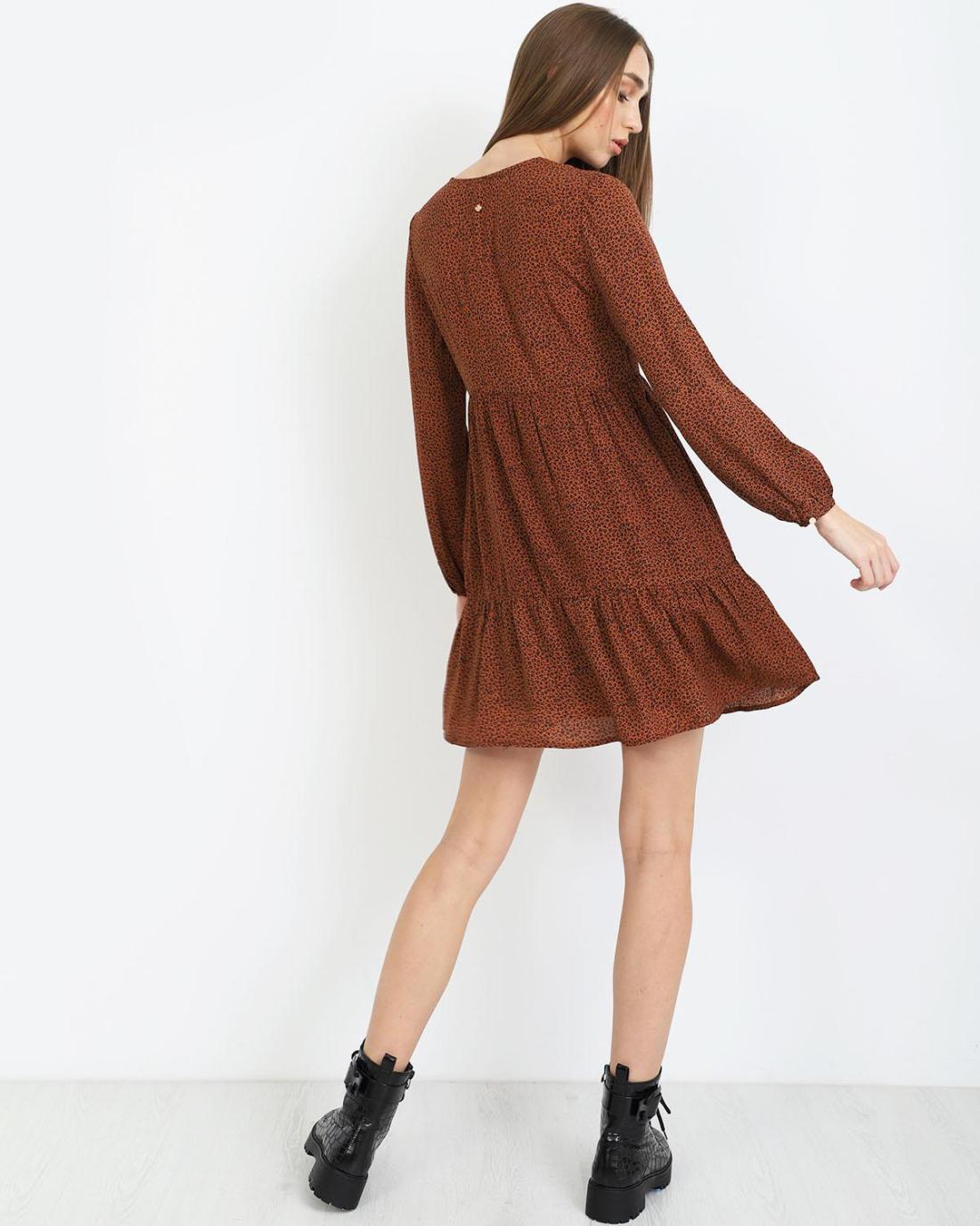 Μίνι φόρεμα animal print