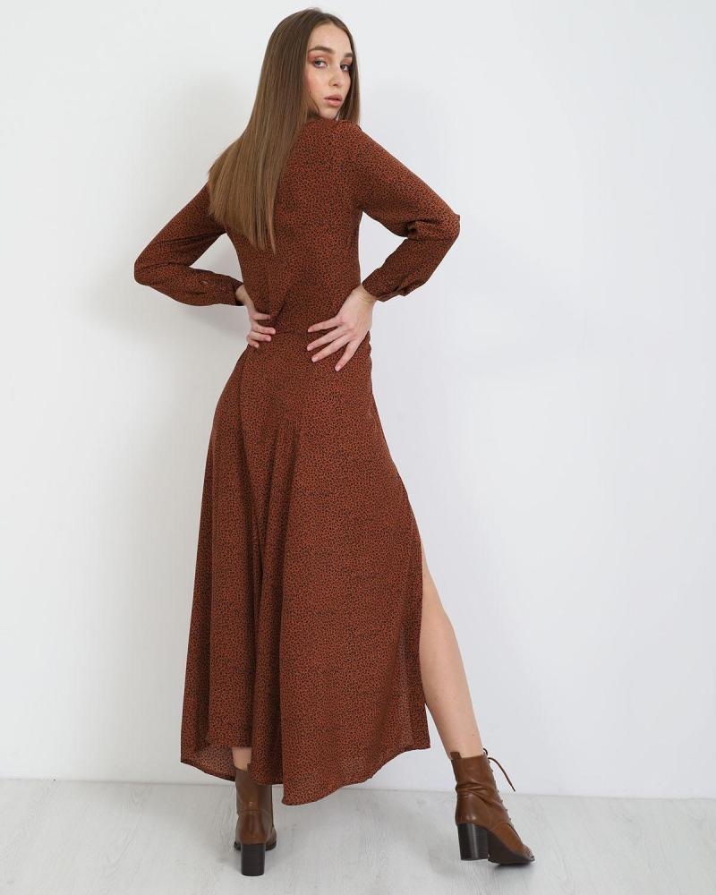 Μάξι φόρεμα animal print