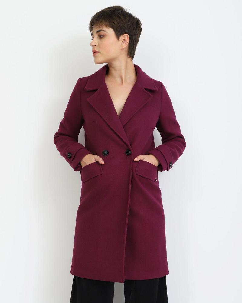 Παλτό μωβ