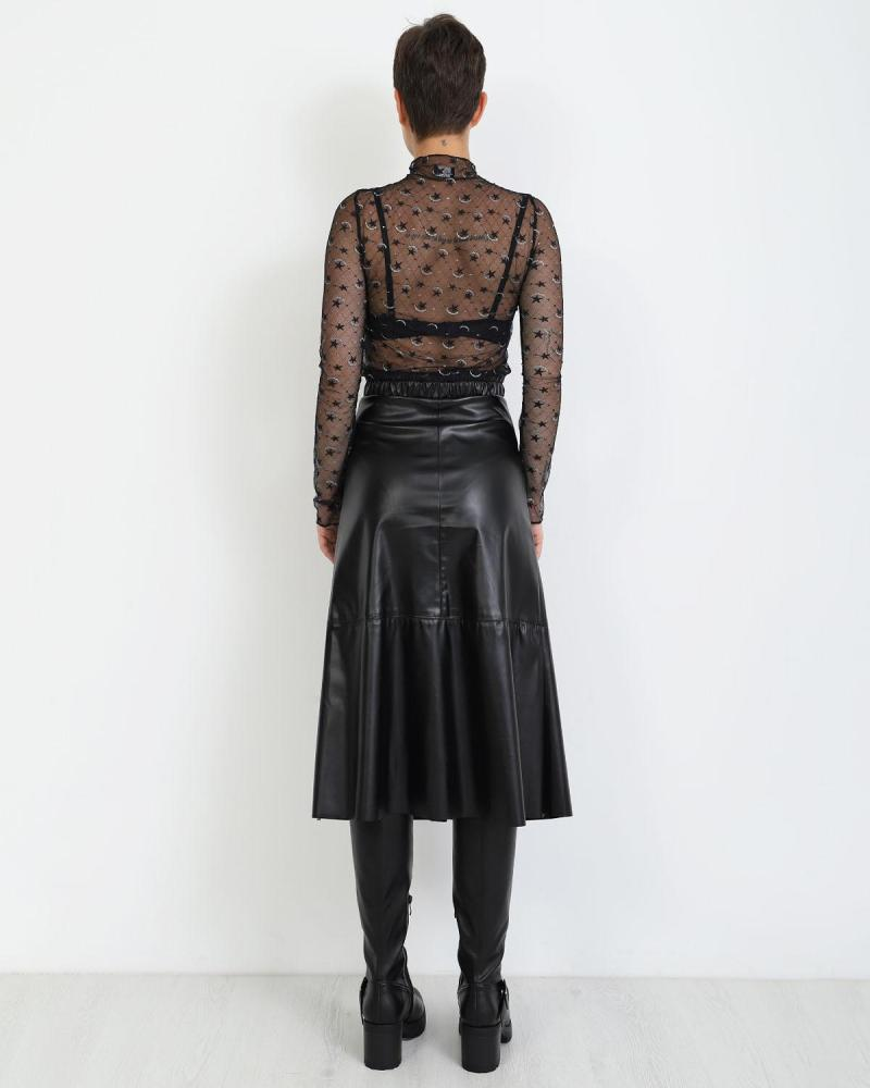 Μίντι φούστα μαύρο