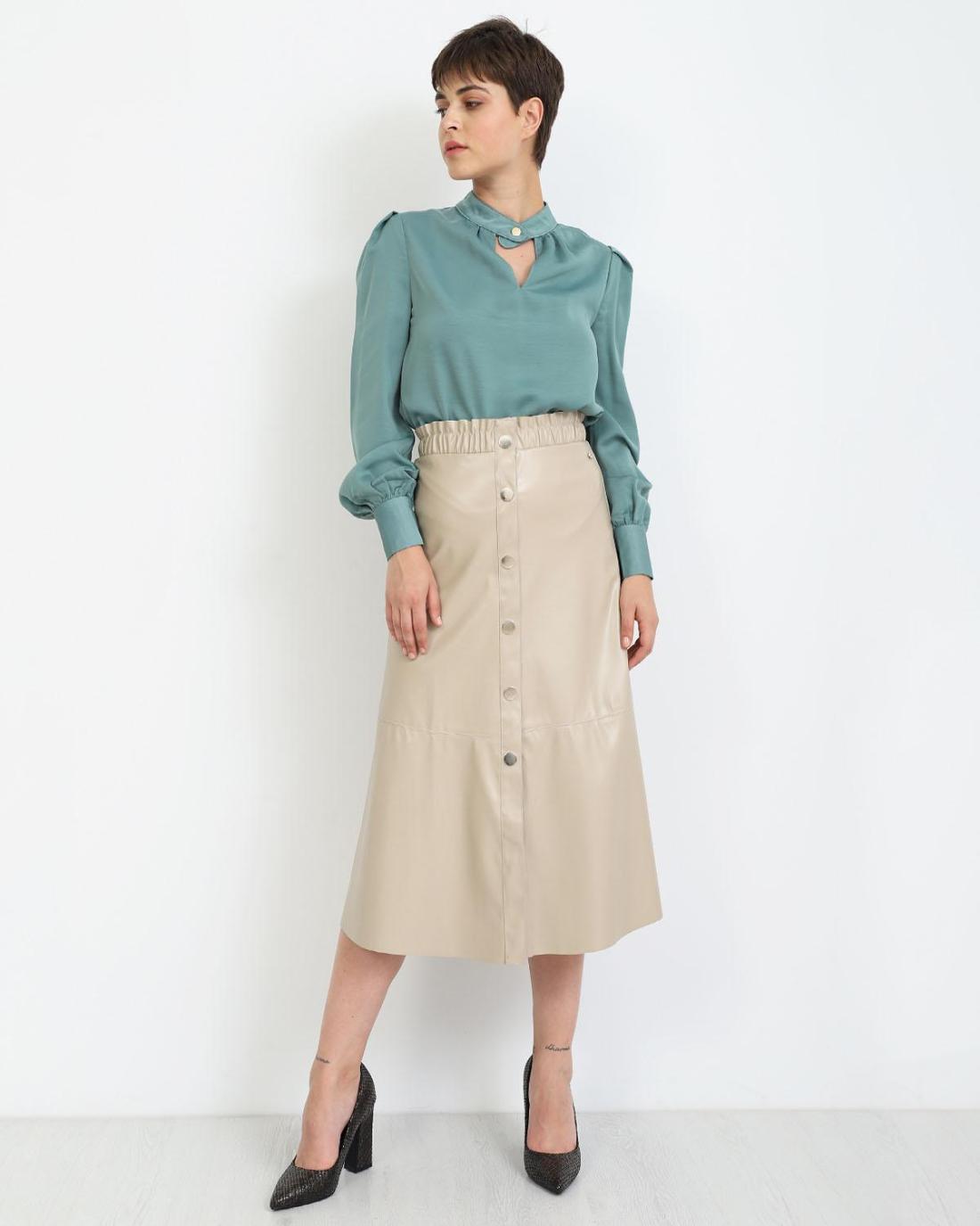 Μίντι φούστα μπεζ