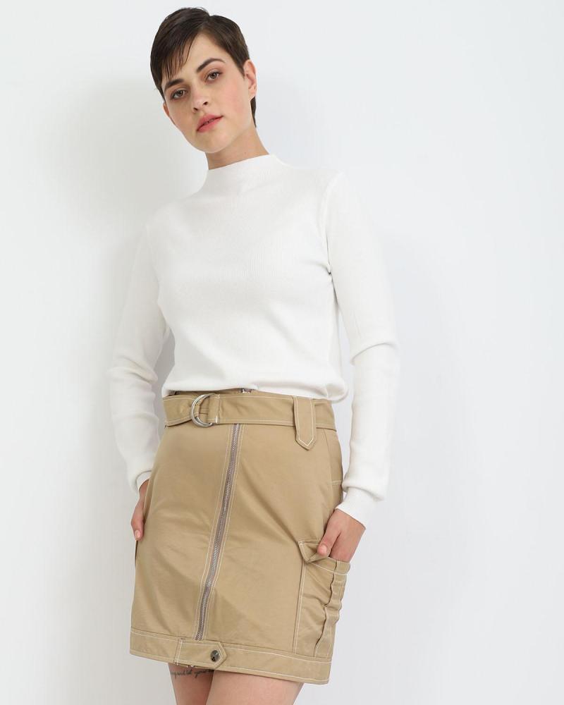 Μίνι φούστα μπεζ