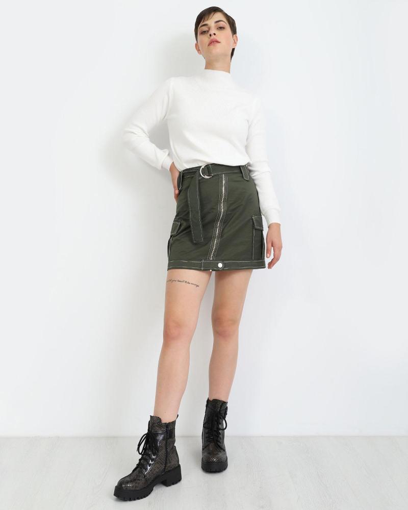 Khaki mini rock