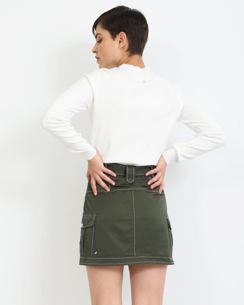 Μίνι φούστα χακί
