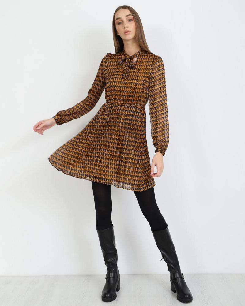 Μίνι φόρεμα Ώχρα