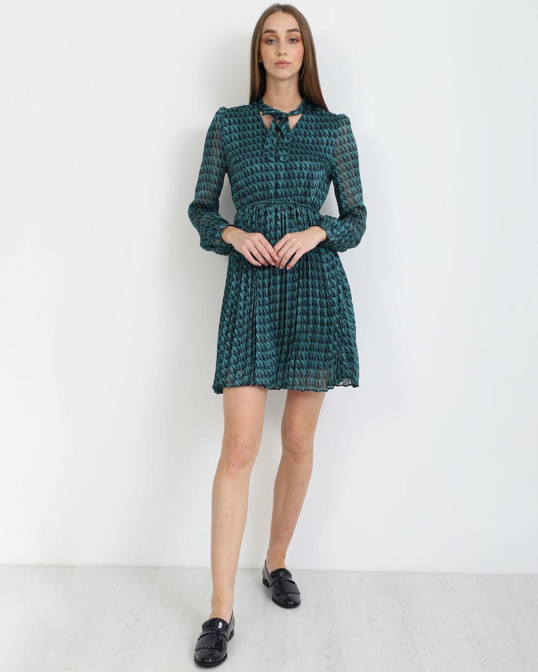 Μίνι φόρεμα πετρόλ