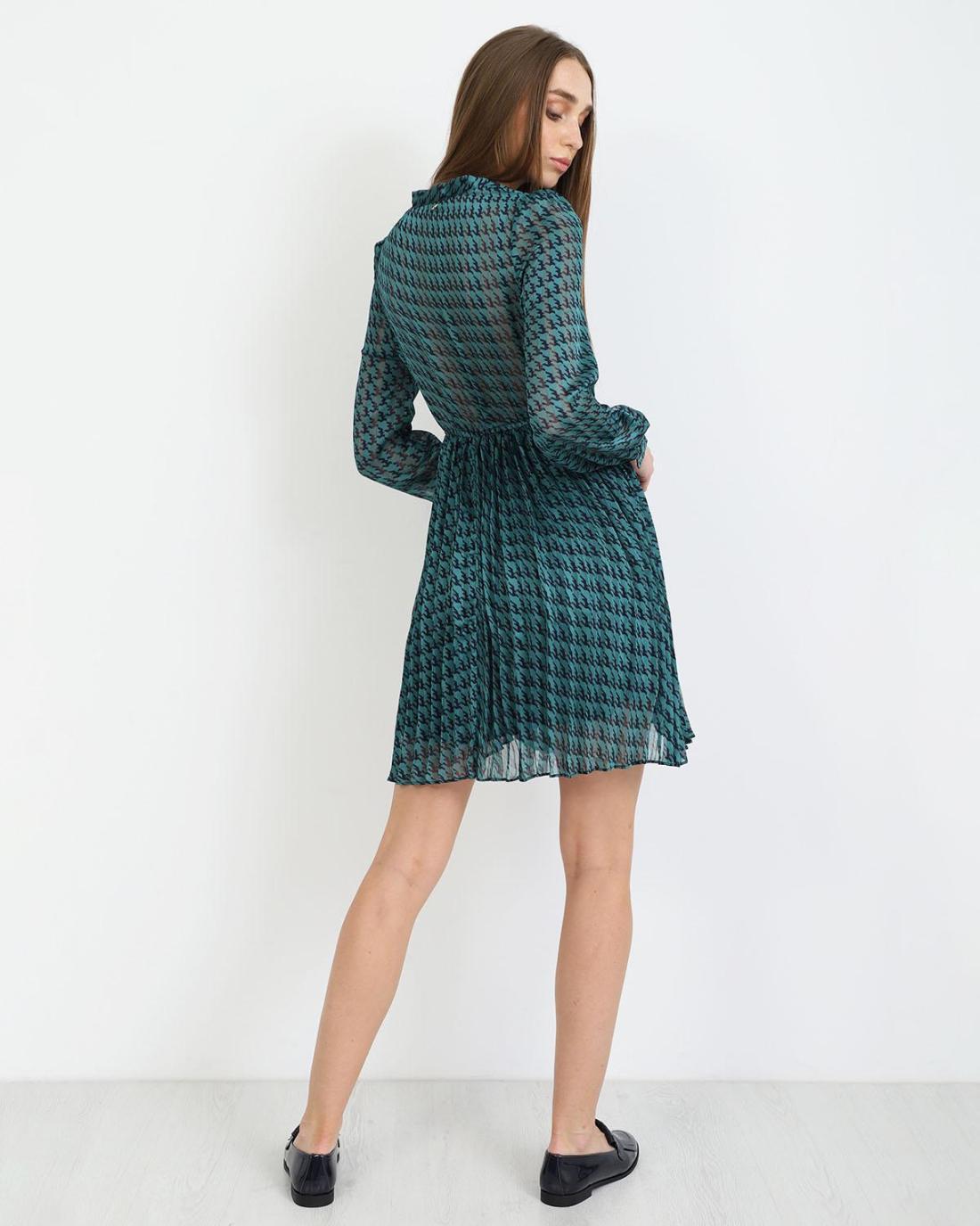 Petrol mini dress