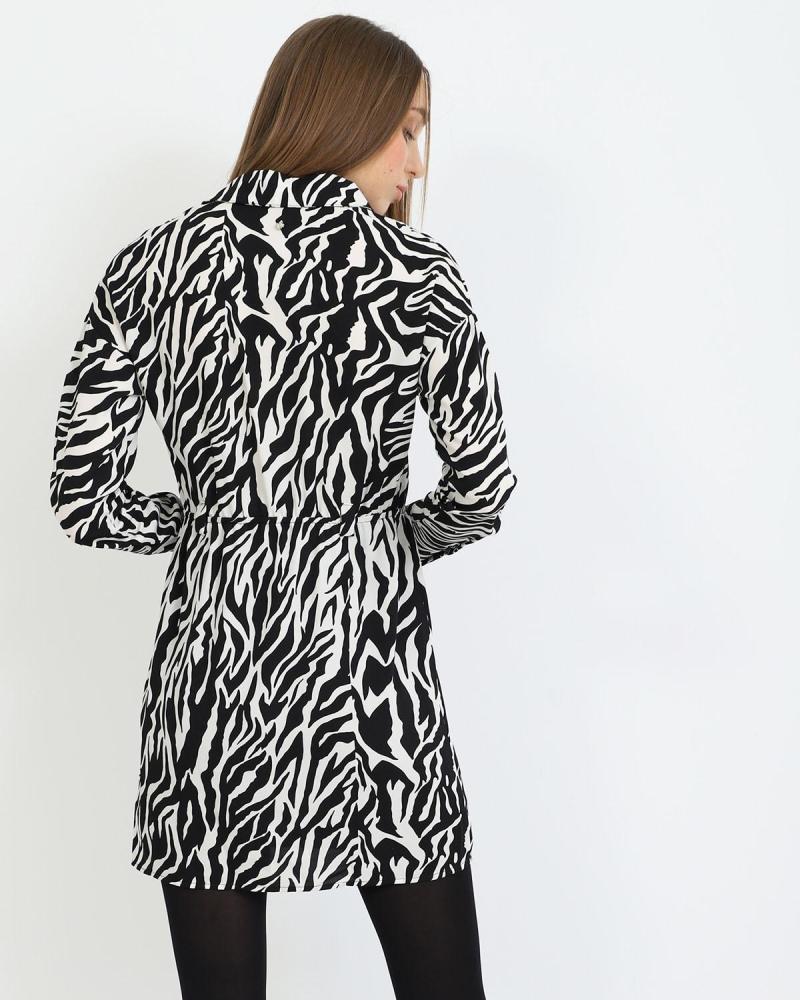 Tierdruck mini kleid