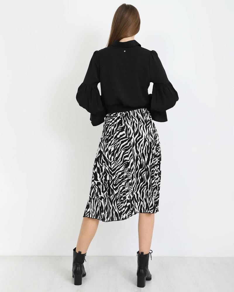 Μίντι φούστα animal print
