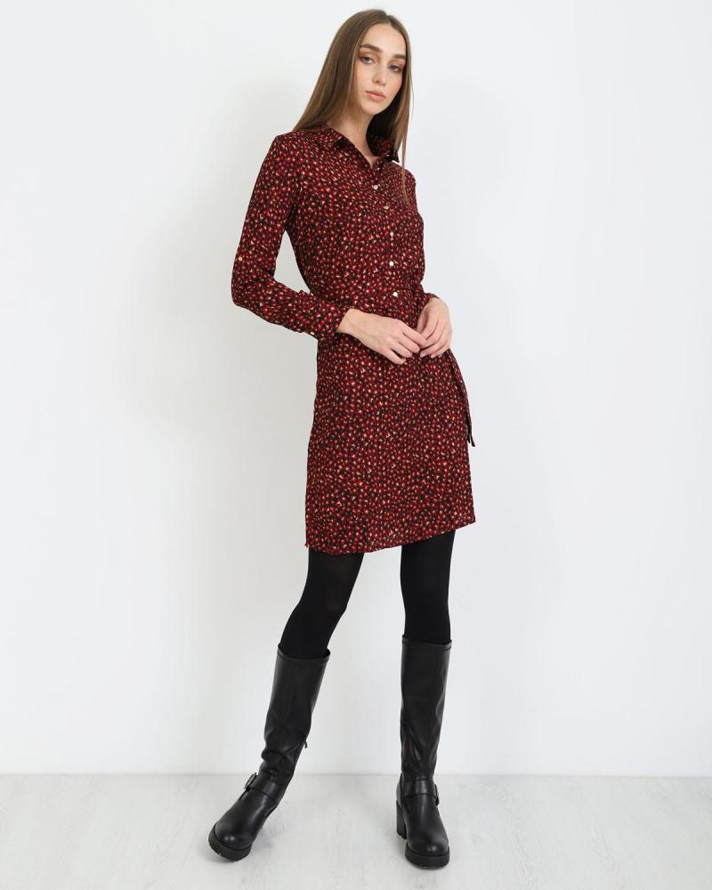 Μίνι φόρεμα κόκκινο
