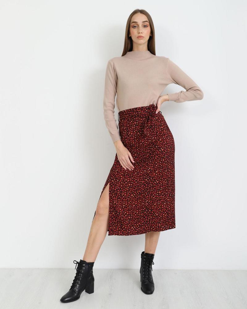 Μίντι φούστα κόκκινη