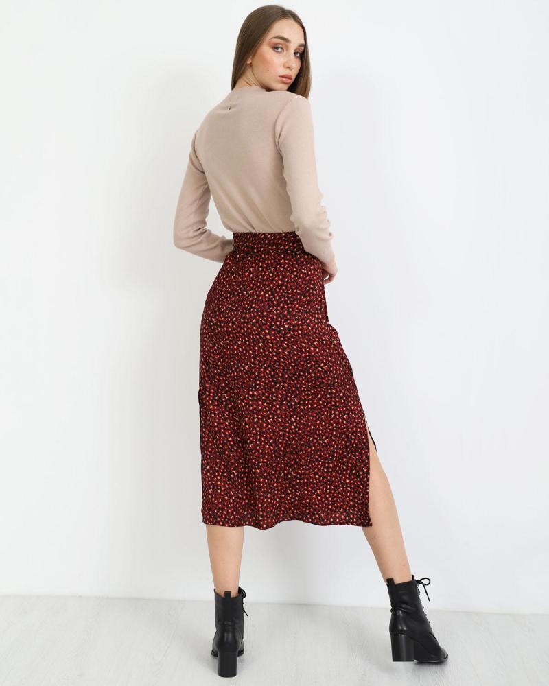 Μίντι φούστα κόκκινο