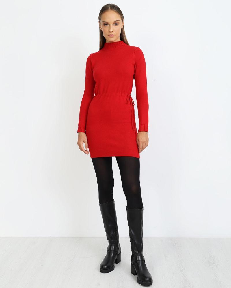 Rot hemdkleid