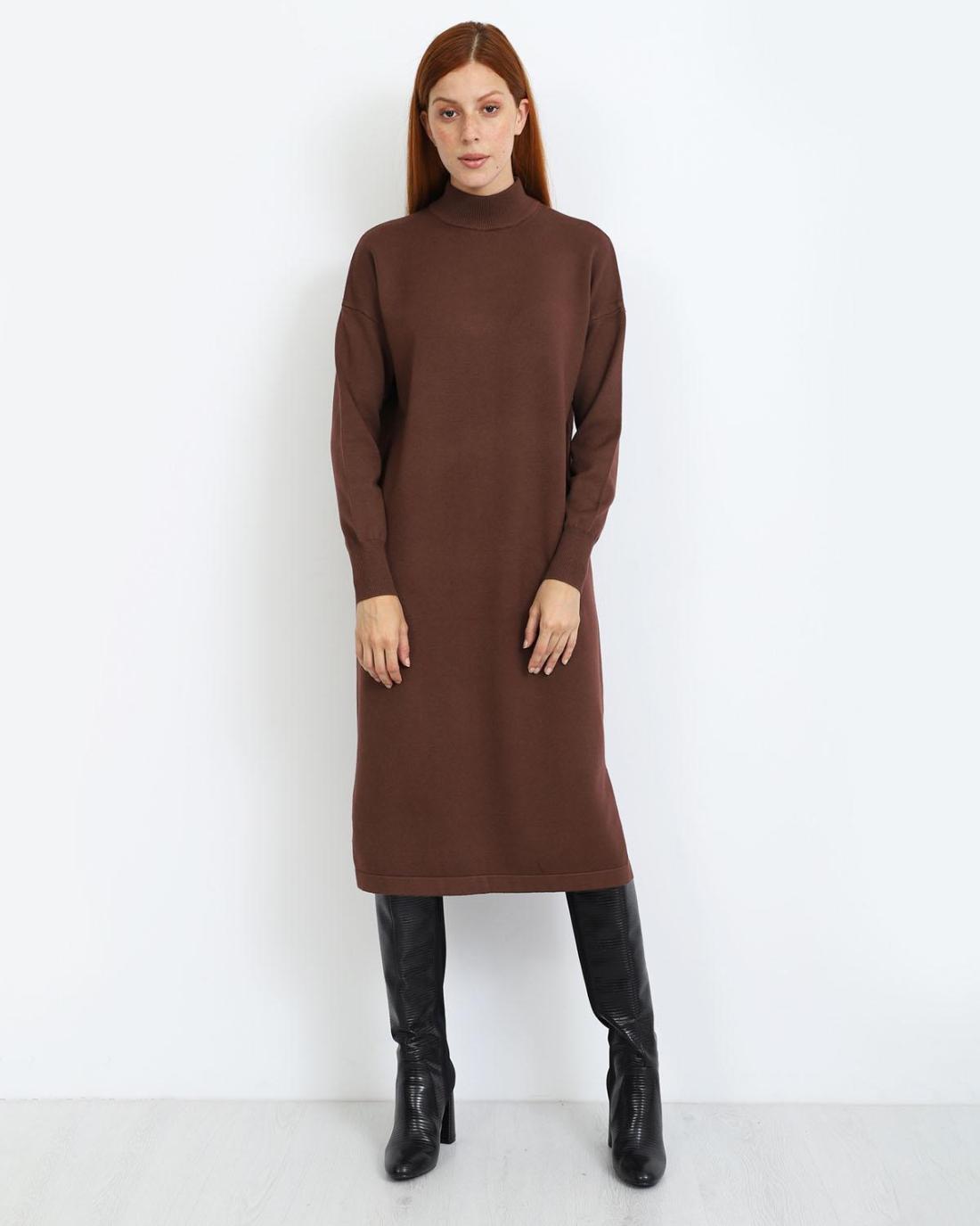 Φόρεμα καφέ