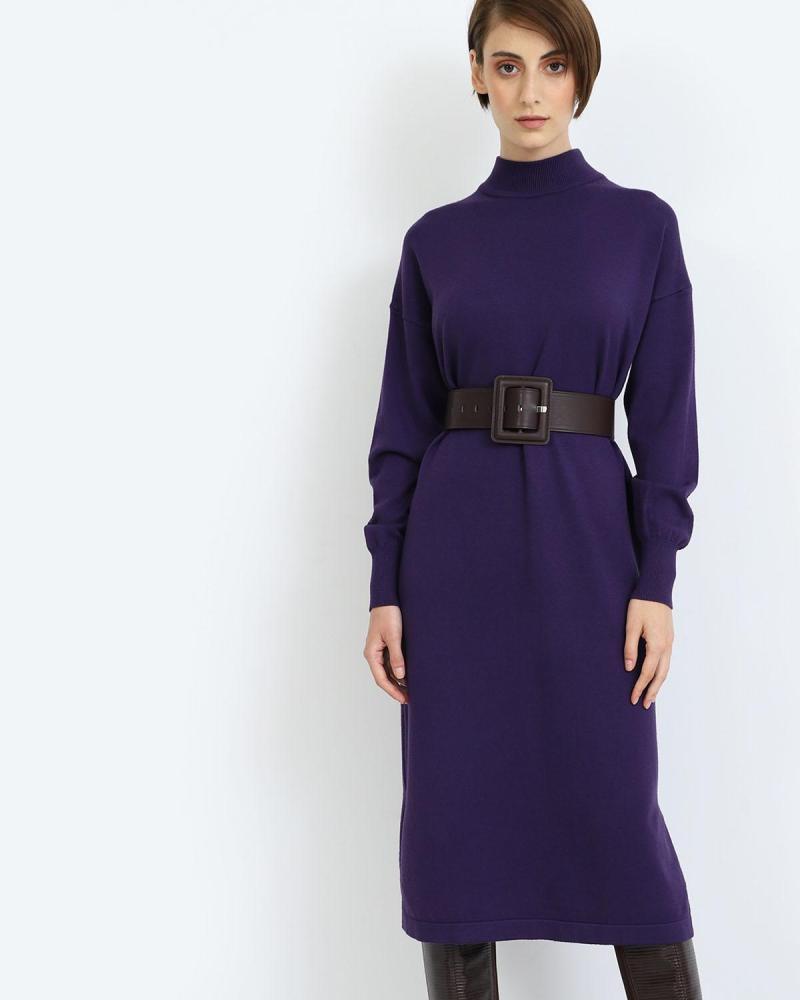 Μίντι φόρεμα μωβ