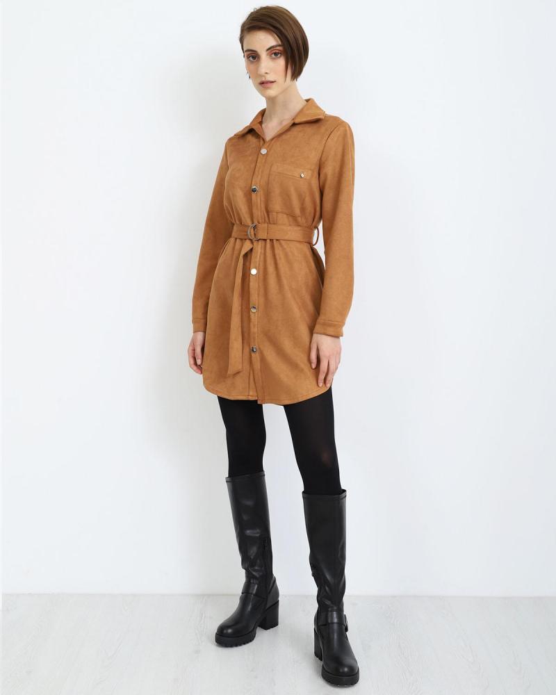 Camel mini dress
