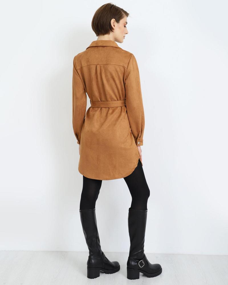 Braun mini kleid