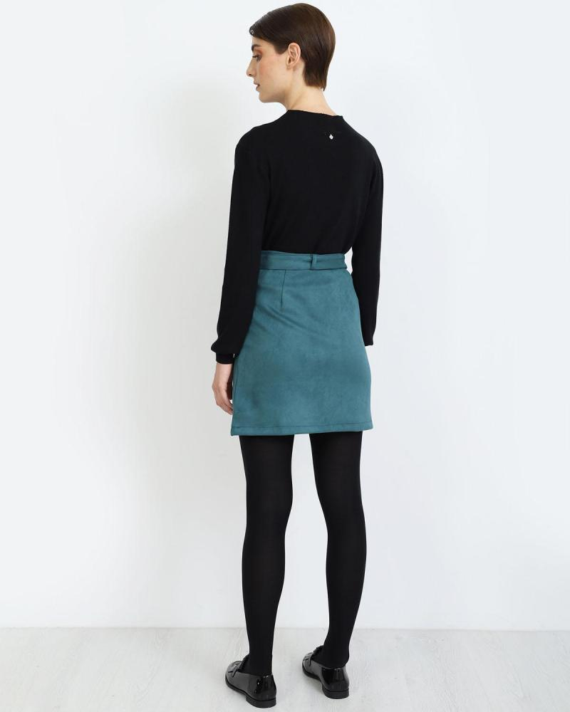 Μίνι φούστα πετρόλ