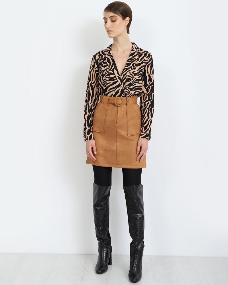 Μίνι φούστα κάμελ