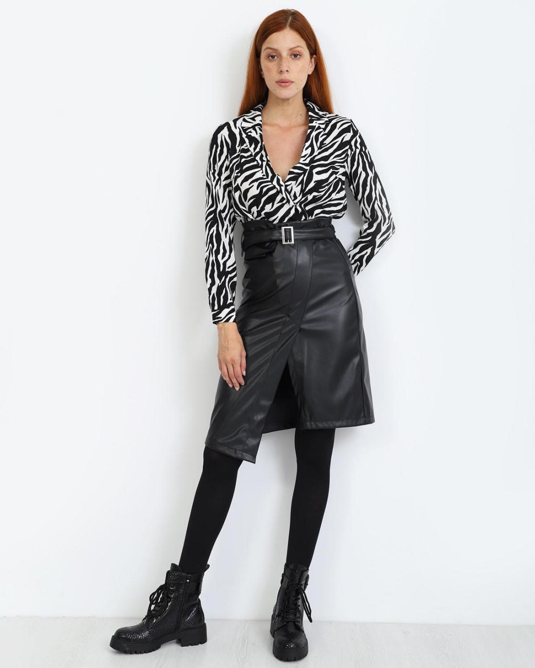 Μίντι φούστα μαύρη