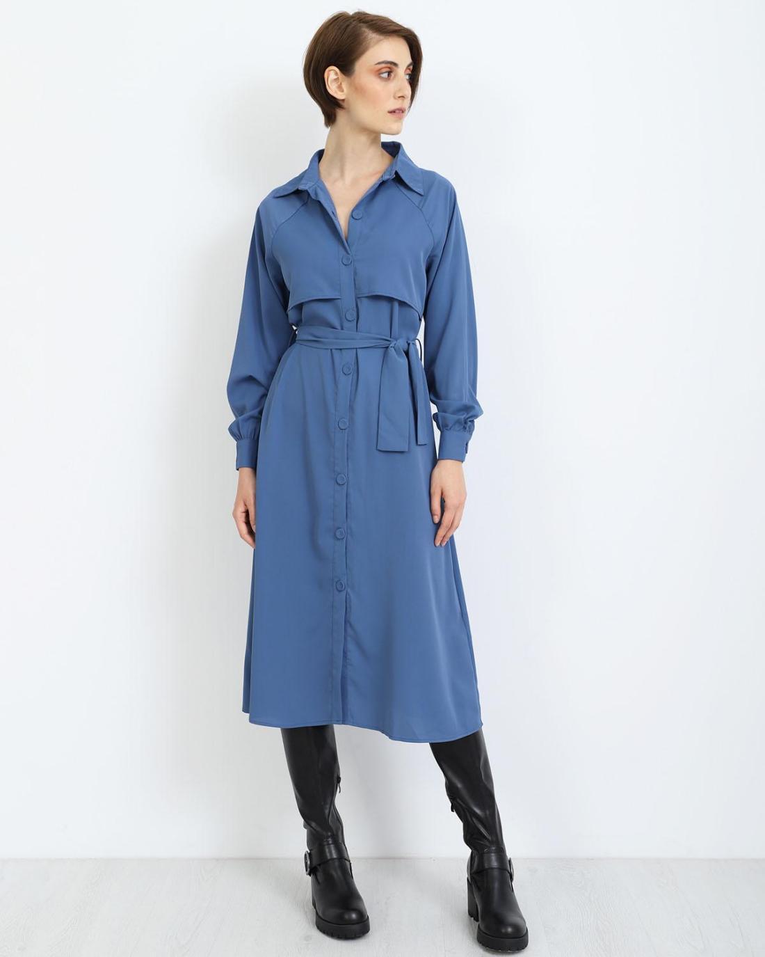 Μίντι φόρεμα μπλε