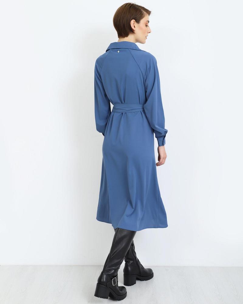 Blau midi kleid