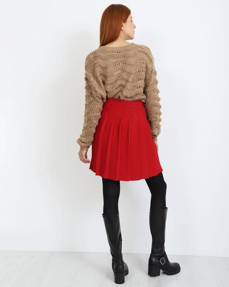 Μίνι φούστα κόκκινο