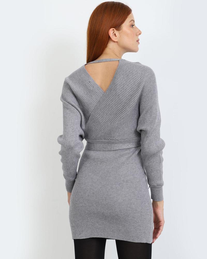 Grau mini kleid