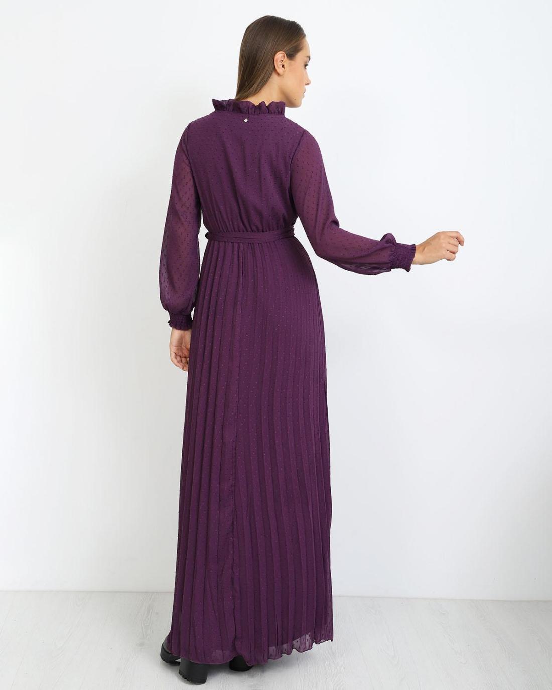 Μάξι φόρεμα μωβ